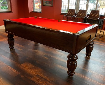 Emperor English Pool Table - Fluted Barrel Legs