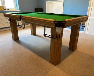 Royal 6' x 3' Snooker Table with Square Fluted Legs