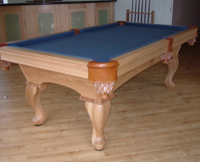 Olhausen Eclipse in Oak Pool Table (Blue Cloth)