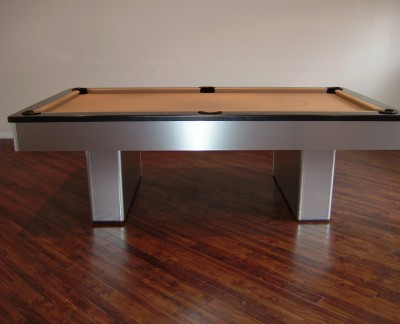Olhausen Monarch Pool Table in Brushed Aluminium (Camel Cloth)