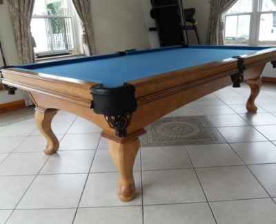 Olhausen Eclipse in Maple Pool Table (Blue Cloth)