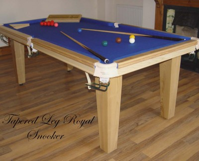 Royal 6' x 3' Snooker Table with Tapered Legs
