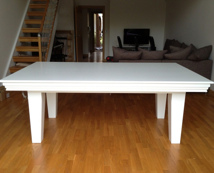 Pool Dining Table - 7ft in White / Blue