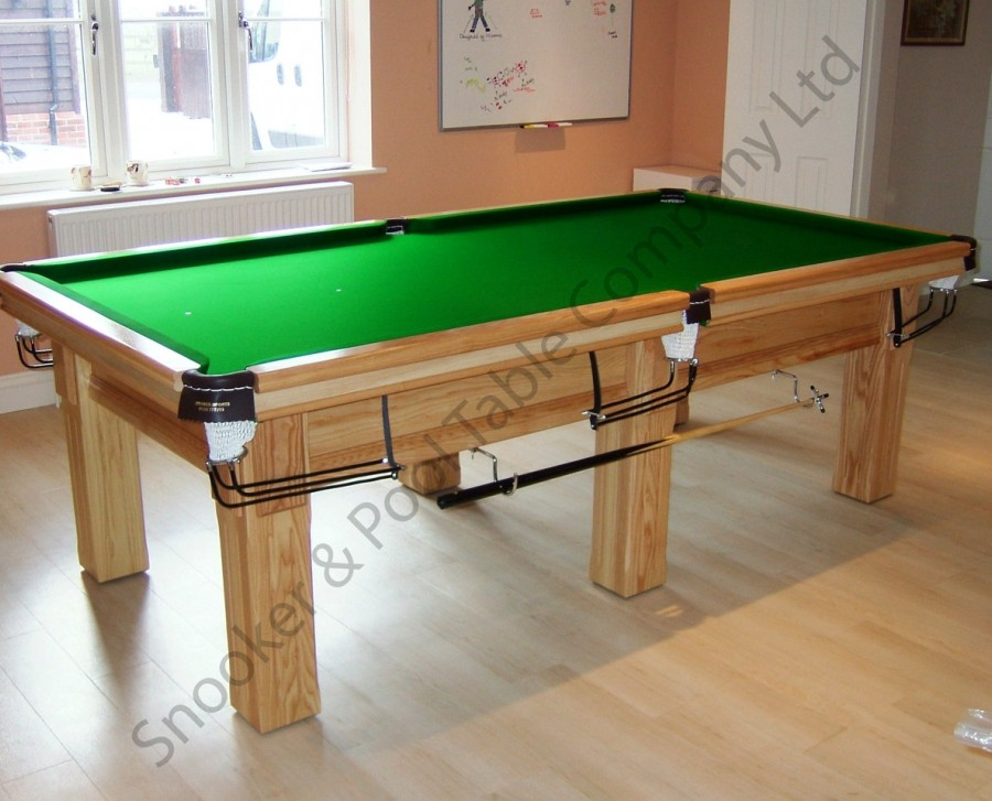 Royal-Executive 8' x 4' Snooker Table with Square/Fluted Legs