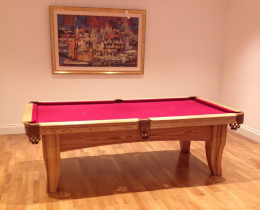 Olhausen Chicago Pool Table in Oak
