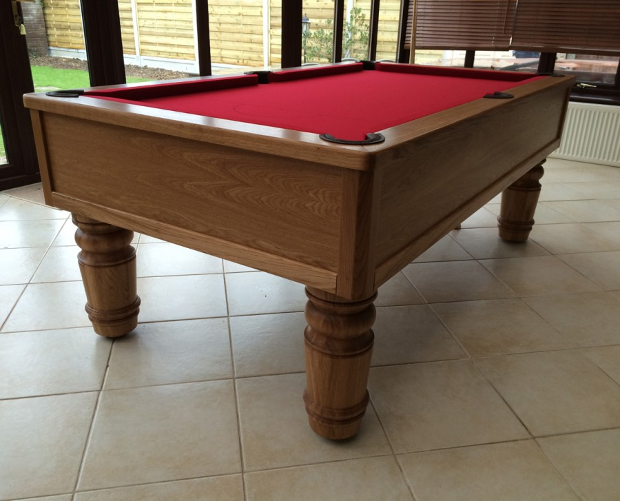 "Emperor English Pool Table with 8"" leg"