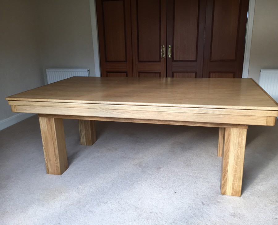 NEW STYLE Pool Dining Table - 7ft Oak / Blue