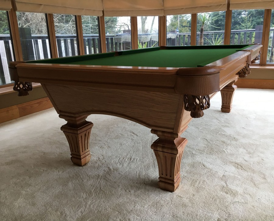 Olhausen Augusta Pool Table with Franklin Leg