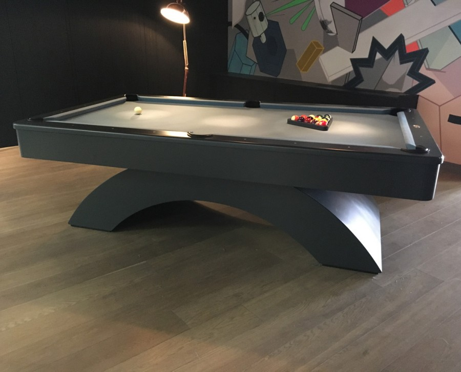 Olhausen Waterfall Pool Table with Spray Painted Finish