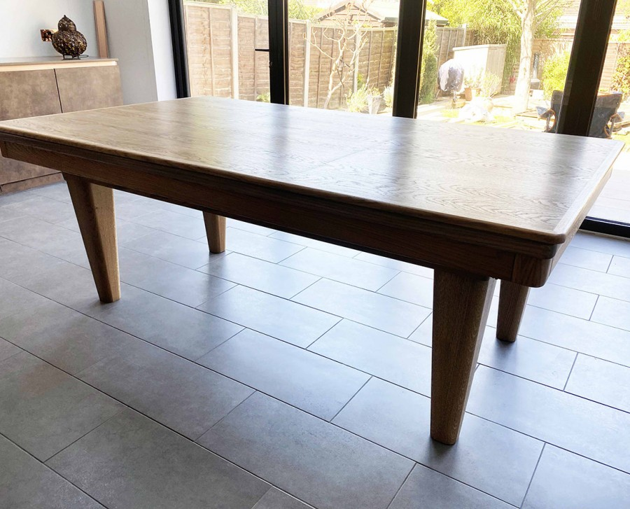Pool Dining Table - Full Tapered Leg