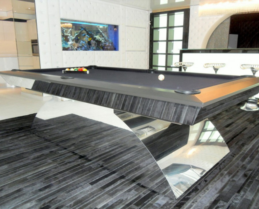 Olhausen Waterfall Special Pool Table in Chrome