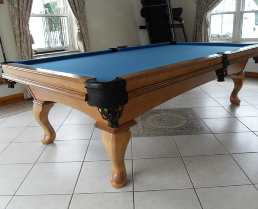 Olhausen Eclipse Pool Table In Maple With Blue Cloth