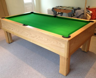 Emperor English Pool Table in Oak with Green Cloth