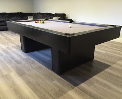 Olhausen Monarch Pool Table in Black (Grey Cloth)
