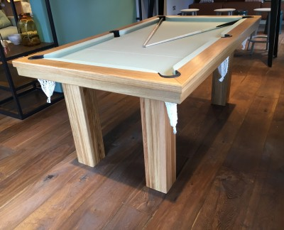 Pool Dining Table - 6ft in Oak / Sage