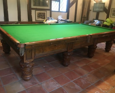 Full-Size THURSTON (Walnut) Snooker Table