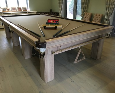 Connoisseur 12' x 6' Snooker Table - Limed Oak with Square Legs