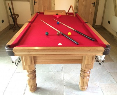 Royal Executive 7ft Snooker Table with Straight Turned/Fluted Legs