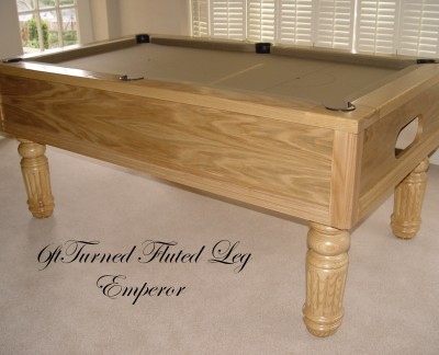 Emperor English Pool Table in Oak with Beige Cloth