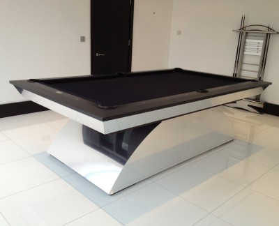 Olhausen Waterfall Special Pool Table with Matching Cue Rack