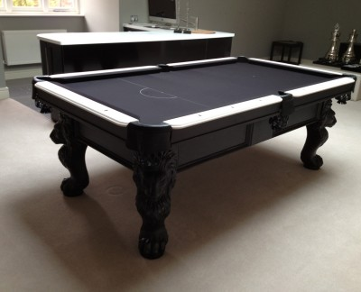 Olhausen St George Pool Table in Black / White Finish