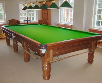 Connoisseur 12 39 x 6 39 table with straight turned fluted legs for 10 x 5 snooker table