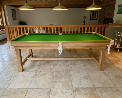 Farmhouse 7ft Snooker Dining Table Made of Oak